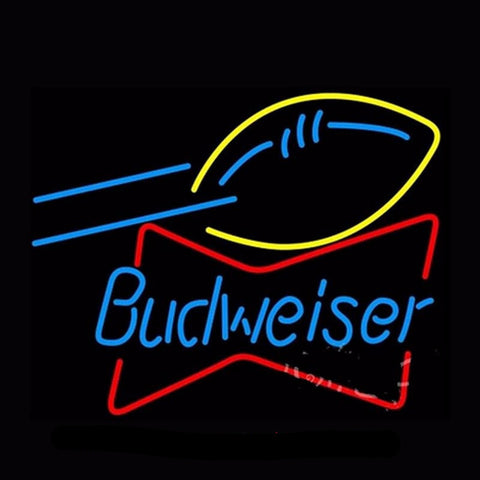 Budweiser Football Neon Bulbs Sign 20x24 -  - TheLedHeroes
