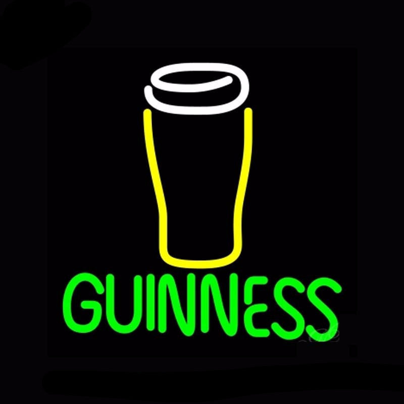 Guinness Glass Neon Bulbs Sign 16x16 -  - TheLedHeroes