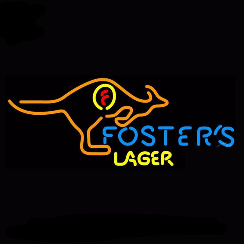 Foster's Lager Kangaroo Neon Bulbs Sign 29x14 -  - TheLedHeroes
