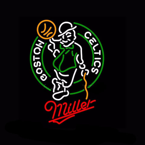 Boston Celtics Miller Neon Bulbs Sign 31x24 -  - TheLedHeroes