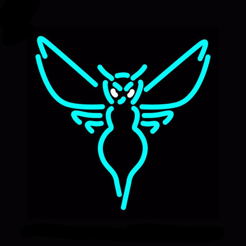 Charlotte Hornets Neon Bulbs Sign 17x17 -  - TheLedHeroes