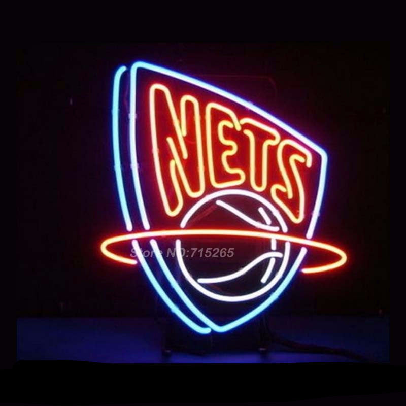 New Jersey Nets Neon Bulbs Sign 17x14 -  - TheLedHeroes