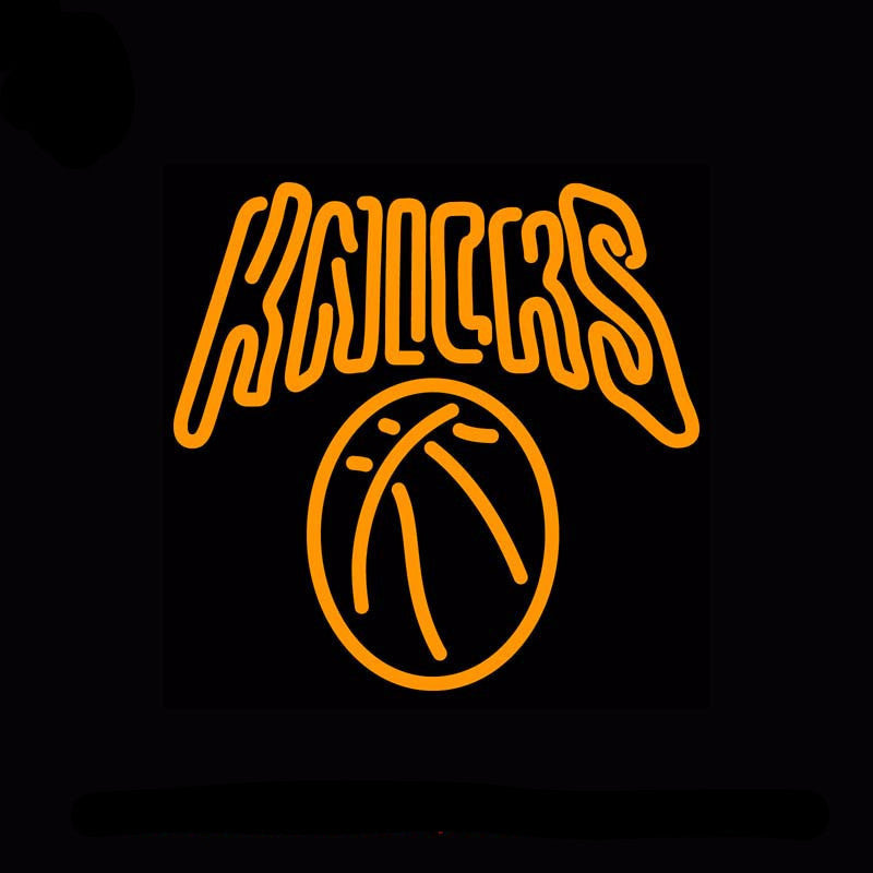 New York Knicks NBA Neon Bulbs Sign 17x17 -  - TheLedHeroes
