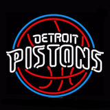 Detroit Pistons Basketball Neon Bulbs Sign 17x14