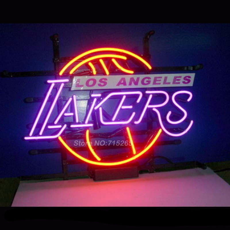 Los Angeles Lakers Basketball Neon Bulbs Sign 17x14 -  - TheLedHeroes