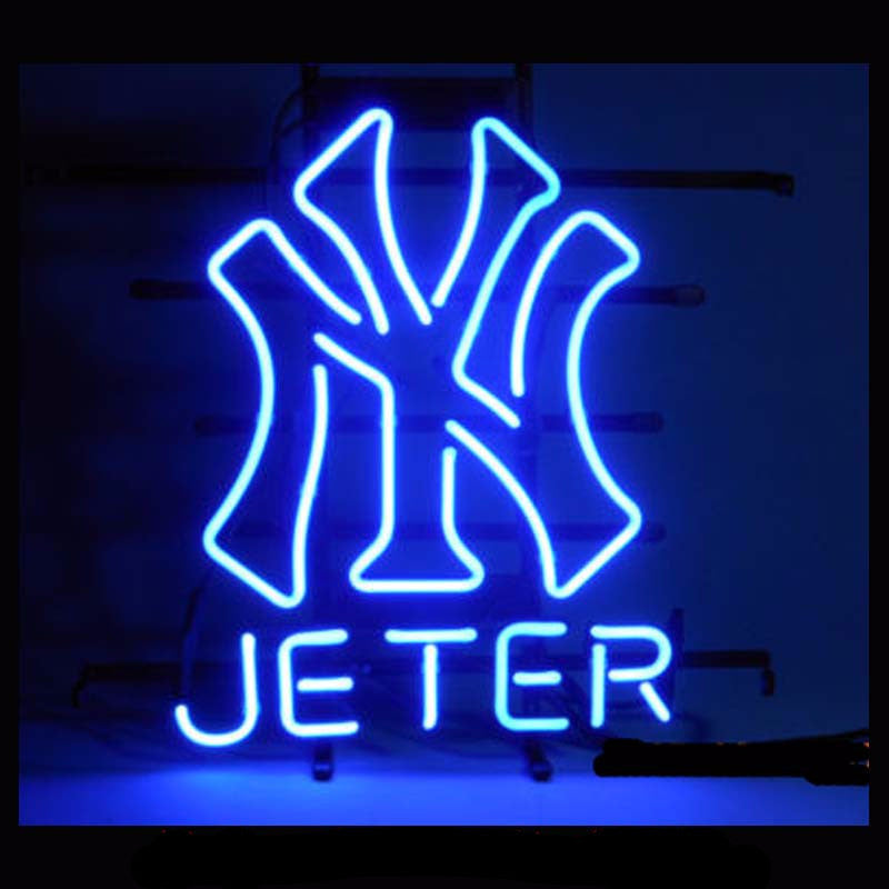 Derek Jeter NY Neon Bulbs Sign 17X14 -  - TheLedHeroes