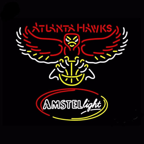 Atlanta Hawks Neon Bulbs Sign 24x31 -  - TheLedHeroes