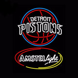 Detroit Pistons Neon Bulbs Sign 24x31 -  - TheLedHeroes