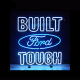 Ford Built Tough Neon Bulbs Sign 24x18 -  - TheLedHeroes