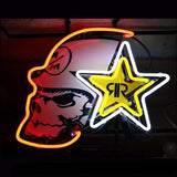 Rockstar Skull Energy Drink Neon Bulbs Sign 17x14 -  - TheLedHeroes