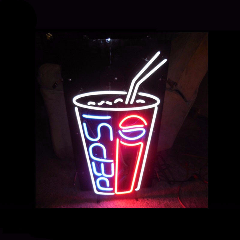 Pepsi Glass Neon Bulbs Sign  17x14 -  - TheLedHeroes