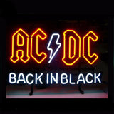 ACDC Back in Black Neon Bulbs Sign 17*14""