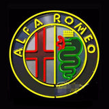 Alfa Romeo Neon Bulbs Sign 24x24