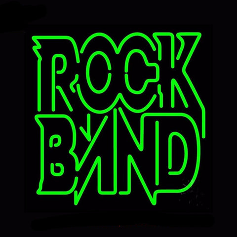 Rock Band Neon Bulbs Sign 24x24 -  - TheLedHeroes