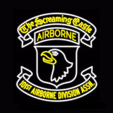 101st Airborne Division Neon Bulbs Sign 28x26