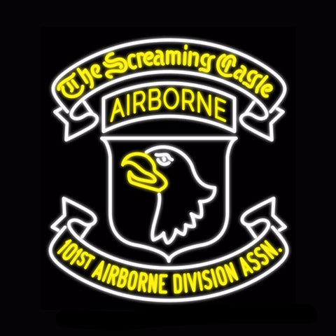 101st Airborne Division Neon Bulbs Sign 28x26 -  - TheLedHeroes