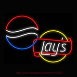 Pepsi & Lay's Neon Bulbs Sign 31x24 -  - TheLedHeroes