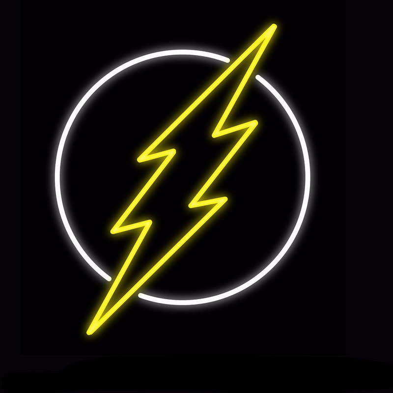 The Flash Neon Bulbs Sign 24x22 -  - TheLedHeroes