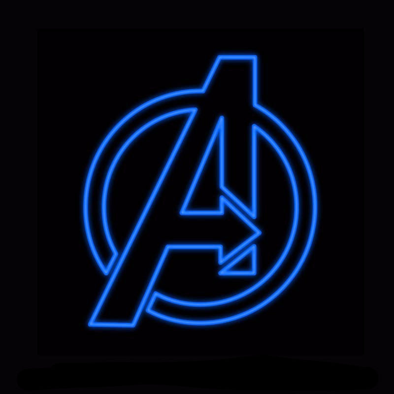 The Avengers Neon Bulbs Sign 24x24 -  - TheLedHeroes