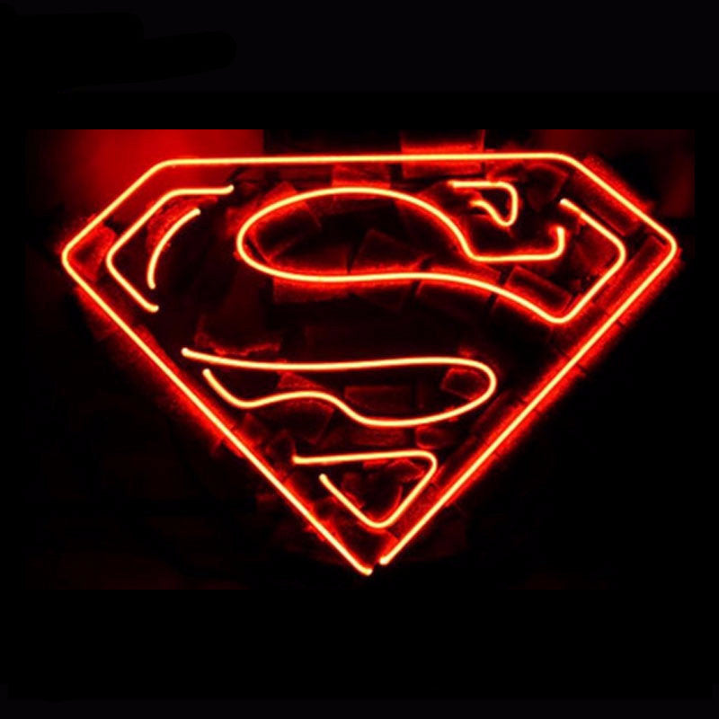 Superman Neon Bulbs Sign 17X14 -  - TheLedHeroes