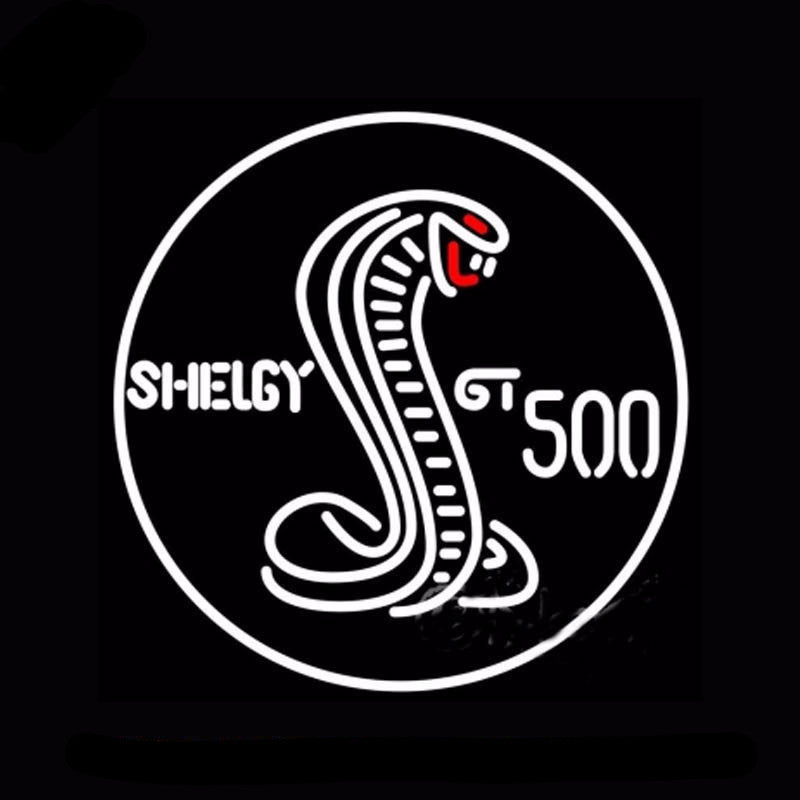 Shelby Gt 500 Neon Bulbs Sign 24x24 -  - TheLedHeroes