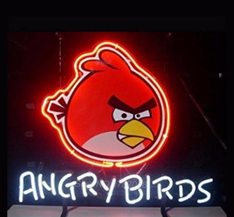 Angry Birds Neon Bulbs Sign 19x15