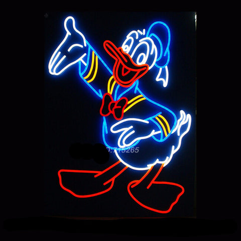 Donald Duck Neon Bulbs Sign 24x20