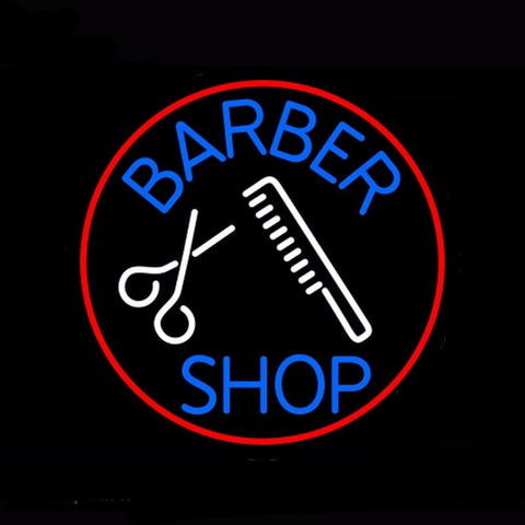 Barber Shop Neon Bulbs Sign 24x24 -  - TheLedHeroes