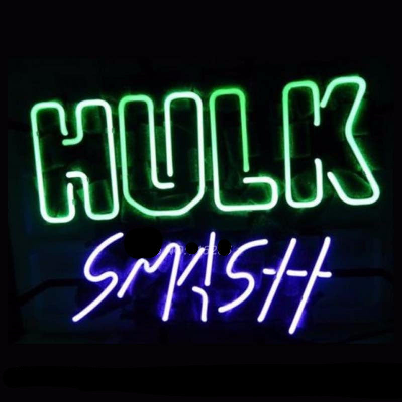Marvel Hulk Neon Bulbs Sign 16x14 -  - TheLedHeroes