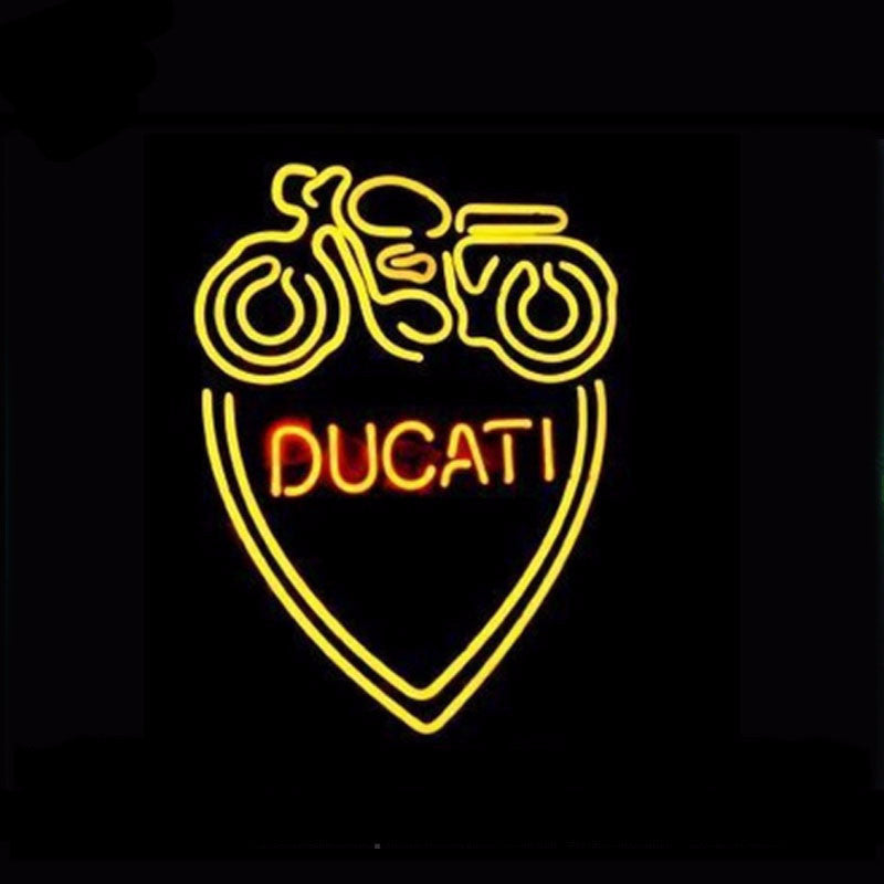 Ducati Classic Oldschool Motorcycle Neon Bulbs Sign 17X14 -  - TheLedHeroes