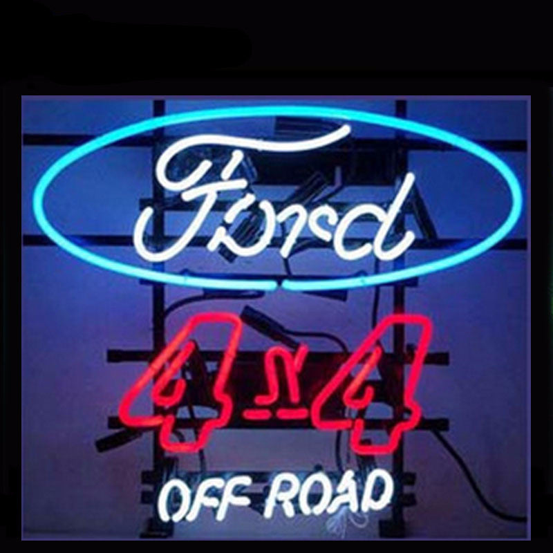 Ford 4X4 Off Road Neon Bulbs Sign 17X14 -  - TheLedHeroes