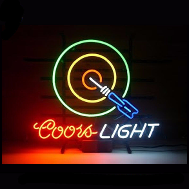 Coors Light Dartboard Neon Bulbs Sign 17x14 -  - TheLedHeroes
