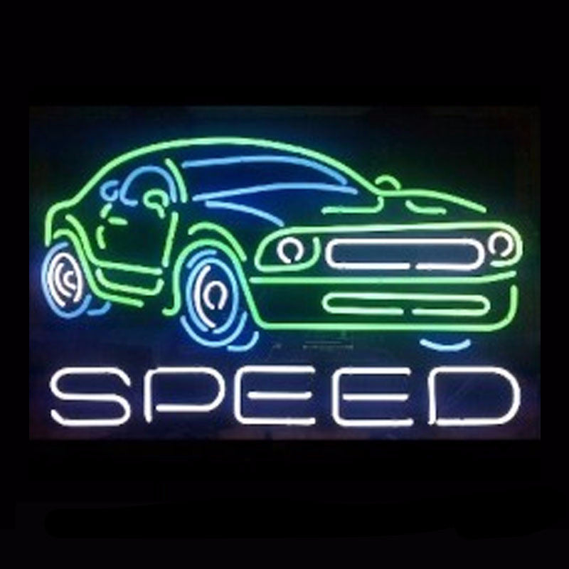 Speed Mustang Neon Bulbs Sign 30x20 -  - TheLedHeroes