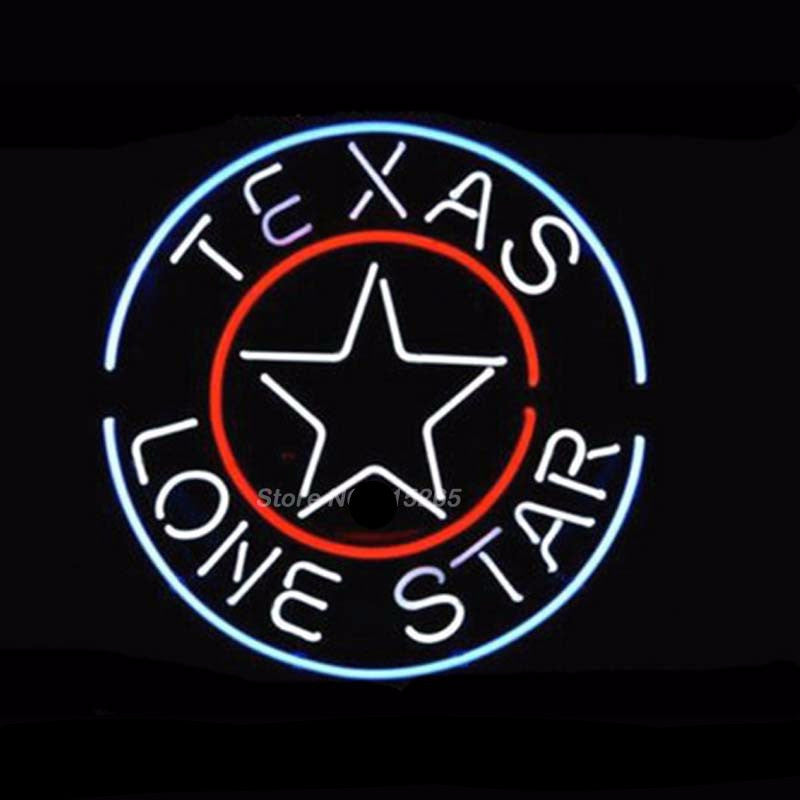 Texas Lone Star Neon Bulbs Sign 17x14 -  - TheLedHeroes