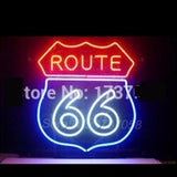 Route 66 Garage Neon Bulbs Sign 19x15