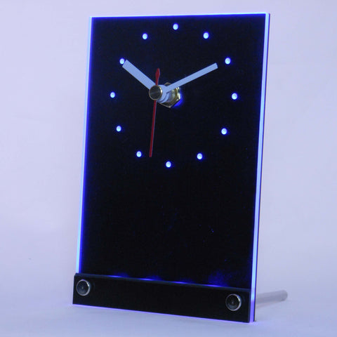 Custom LED Table Desk Clock - Blue - TheLedHeroes