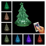 Colorful Christmas Tree 3D LED LAMP -  - TheLedHeroes
