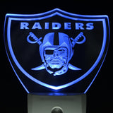 Oakland Raiders Football Bar Day/ Night Sensor Led Night Light Sign