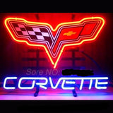 Corvette Neon Bulbs Sign 17X14 -  - TheLedHeroes