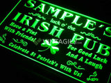 Luck o' the Irish Pub Name Personalized Custom LED Sign