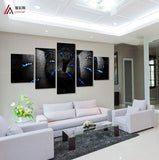 Blue Snake 5 Pcs Wall Canvas -  - TheLedHeroes