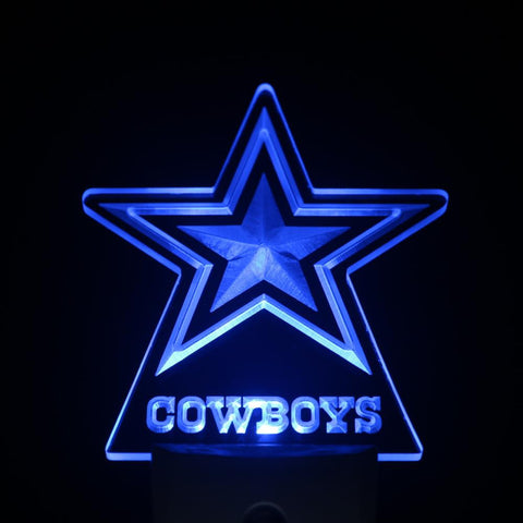 Dallas Cowboys Day/ Night Sensor Led Night Light Sign