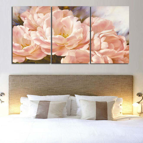 Flowers 3 Pcs Wall Canvas -  - TheLedHeroes