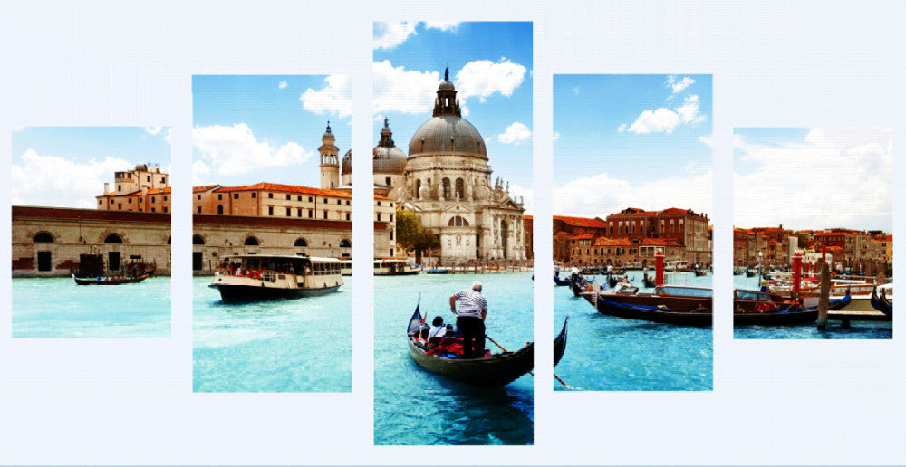 Venice 5 Pcs Wall Canvas -  - TheLedHeroes