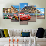 Cars Flash McQueen 5 Pcs Wall Canvas -  - TheLedHeroes