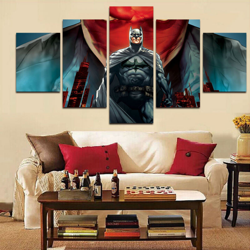 Batman 5 Pcs Wall Canvas -  - TheLedHeroes