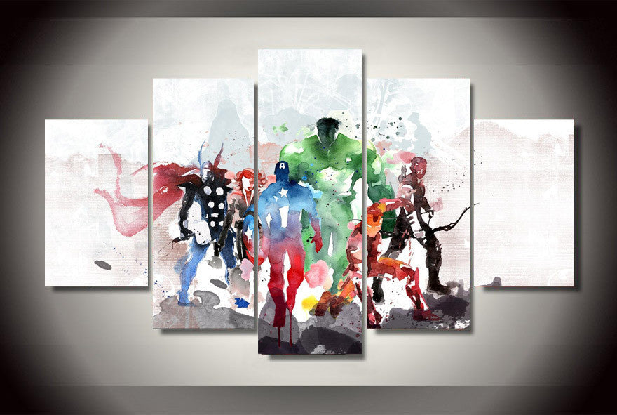 The Avengers 5 Pcs Wall Canvas -  - TheLedHeroes