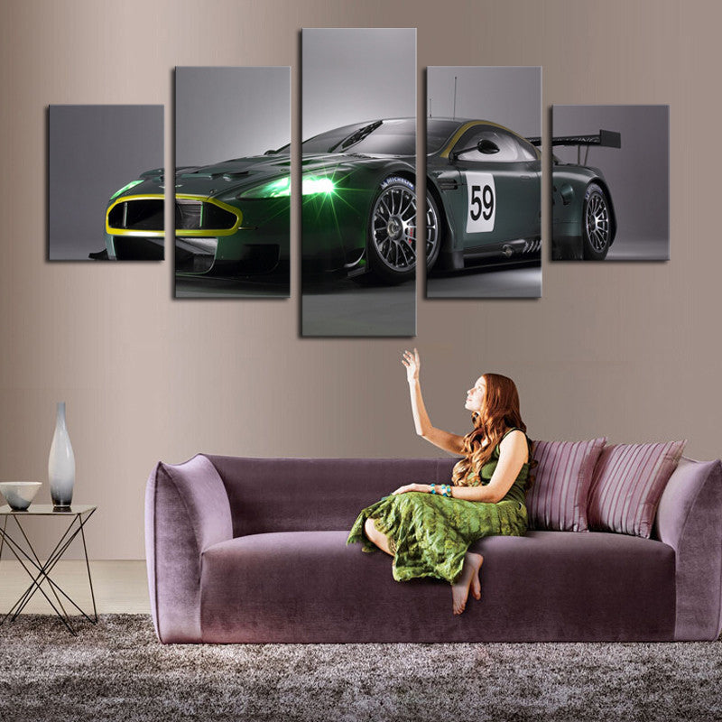 Dream Racing Green 5 Pcs Wall Canvas -  - TheLedHeroes