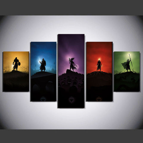 Cartoon Characters 5 Pcs Wall Canvas -  - TheLedHeroes