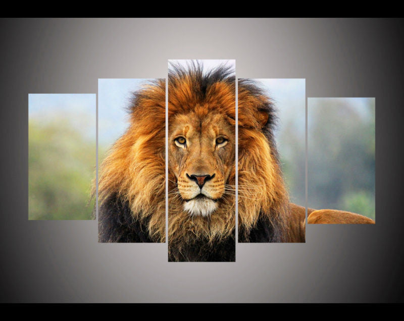 Lion 5 Pcs Wall Canvas -  - TheLedHeroes
